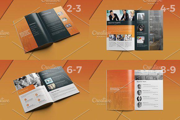 Die Besten  Brochure Sample Ideen Auf   Portfolio