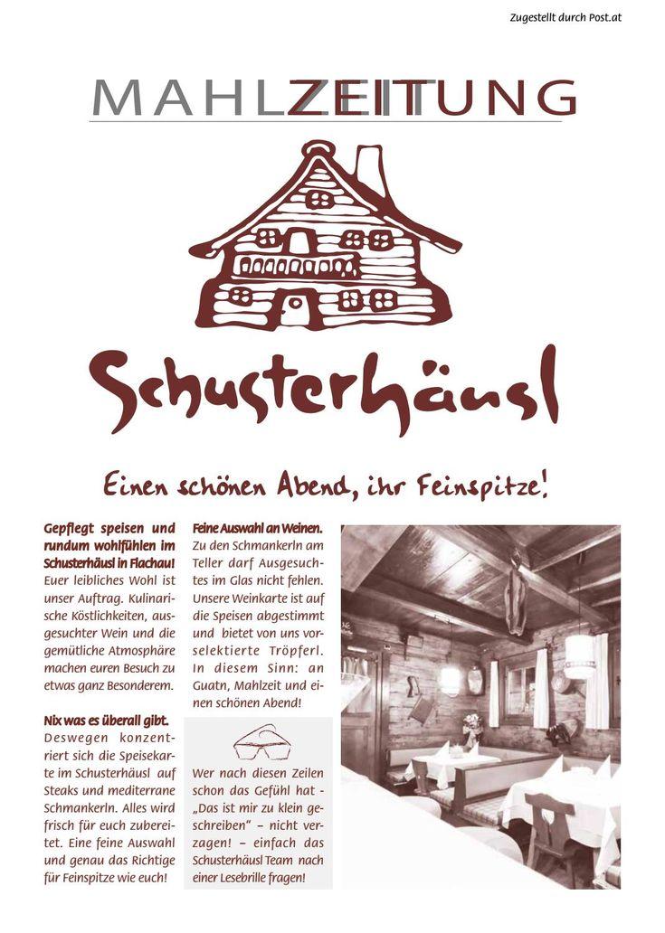 Mahlzeitung SChusterhäusl Flachau Winter16/ 17