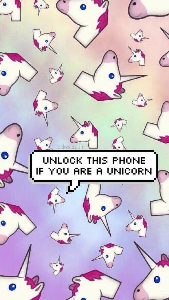 ✨ Wallpaper Lockscreen Cute Unicorn