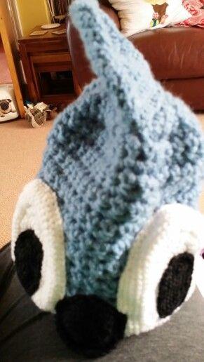 Crochet sonic hat I made