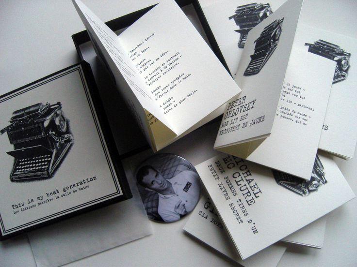 Beaux livres de poésie Beat Generation Kerouac, Orlovsky, Snyder...  Editions derrière la salle de bains http://leseditionsderrierelasalledebains.bigcartel.com