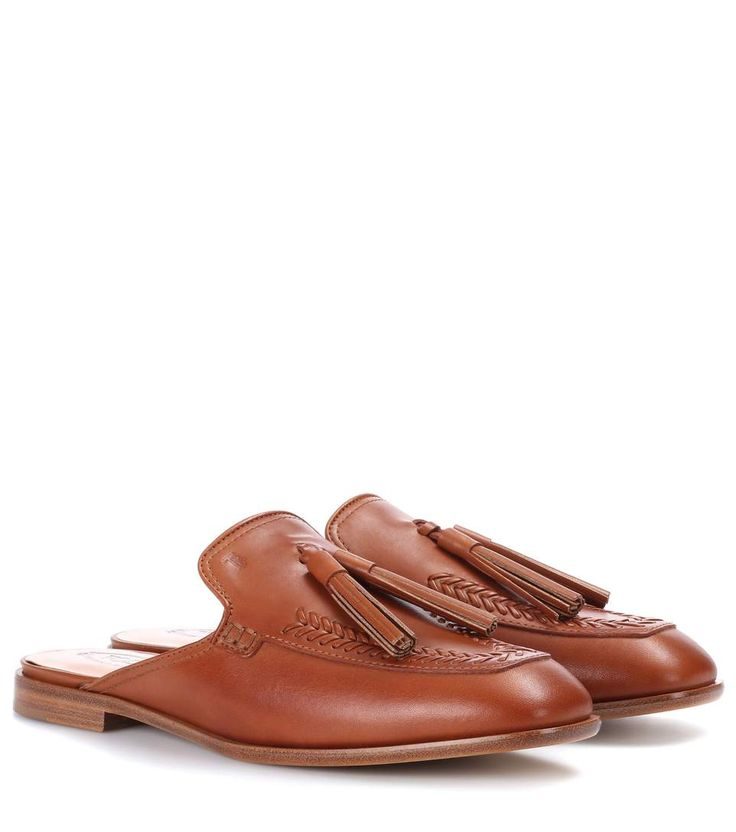 TOD'S | Leather mules #Shoes #Flat shoes #Slippers #TOD'S