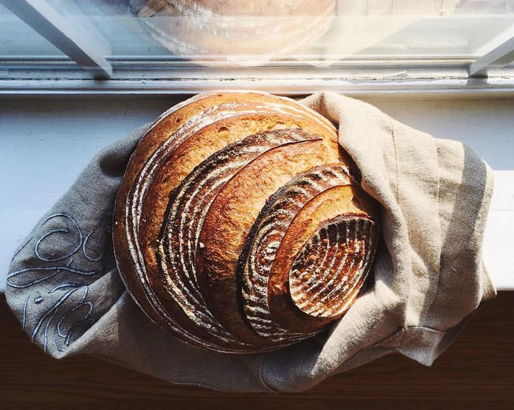 Saturday morning baking. Sourdough boule with rye starter and mixed flours for…
