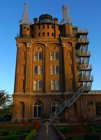 Villa Augustus (former C19 water tower) in Dordrecht, Holland; photo by Jane Brocket