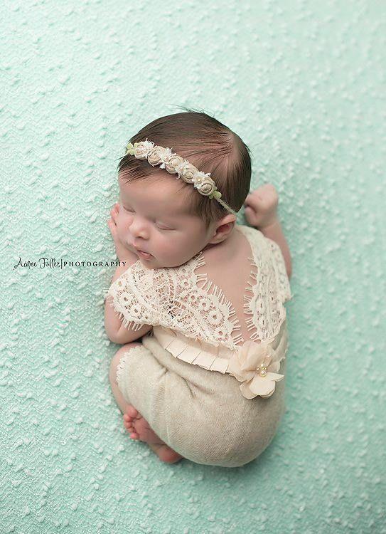 Newborn Romper Baby Girl Photo Outfit Lace Romper Newborn