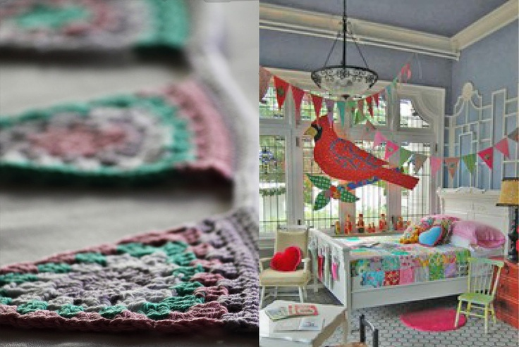 Crochet pennants - from most crocheted (Swedish)