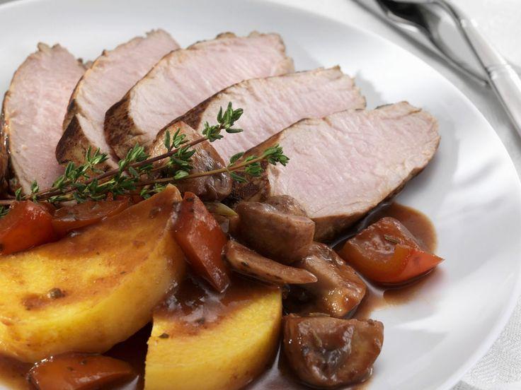 schweinefilet mit rotweinsauce und kartoffeln mit bildern