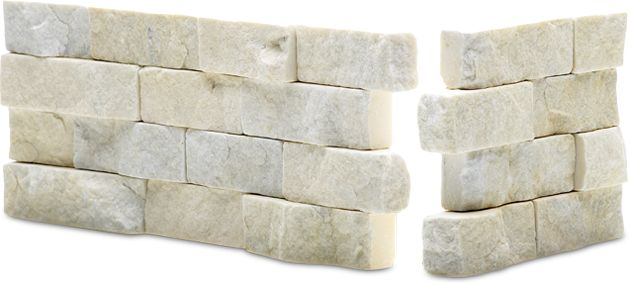 Ivory Rock Panel Natural Stacked Stone Veneer For Wall