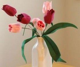 flor fieltro jarron - Buscar con Google