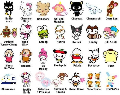 """Sanrio character merchandise / In """"Sanrio Company, Ltd"""", various fancy fancy goods including Hello Kitty is famous, and the self-developed character total number exceeds 400 kinds."""