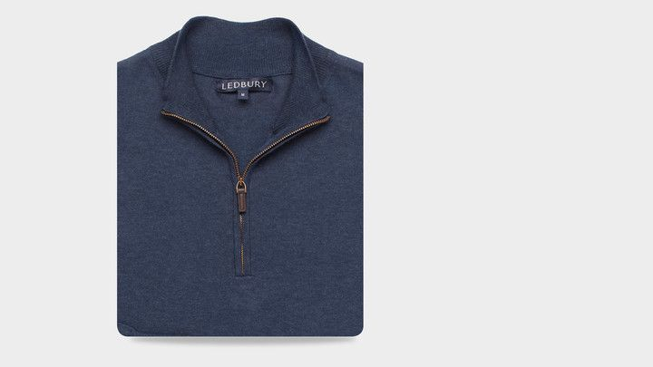 The Cadet Blue Easterley Half-Zip