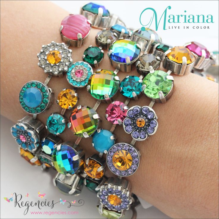 Spectacular Swarovski And Gemstone Color Combinations In These Newest Mariana Bracelets From The Odyssey