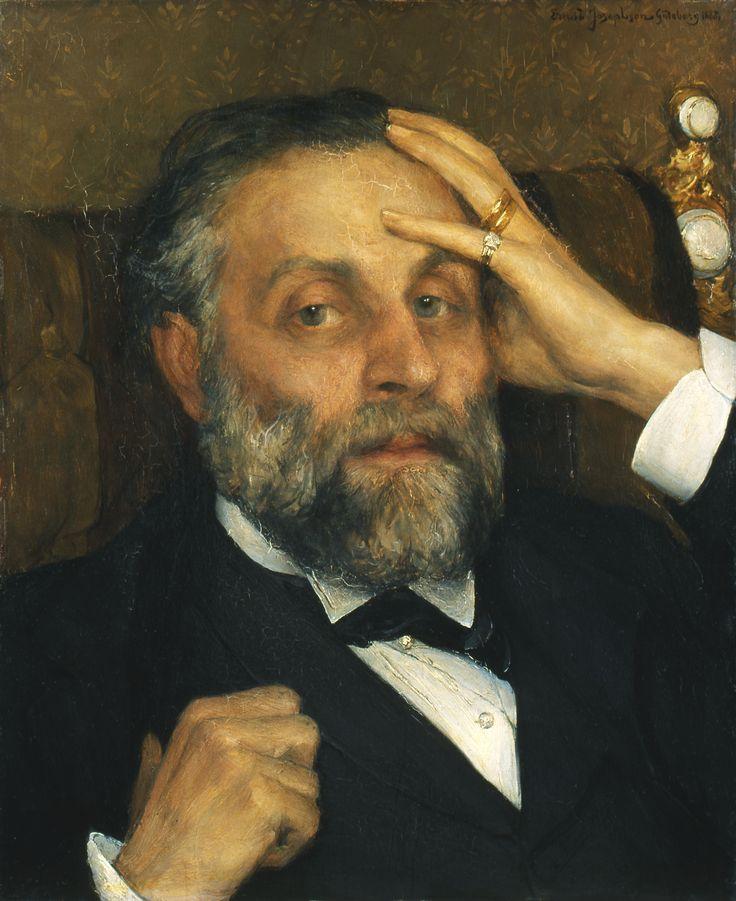 """Ernst Josephson, """"Poträtt av Pontus Furstenberg"""""""