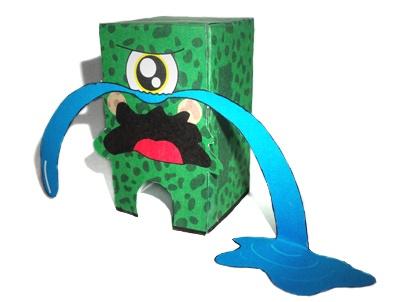 paper toys by marcelo miraglia, via Behance