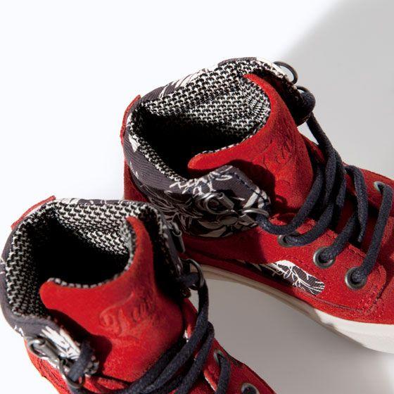 Кроссовка баскетбольная комбинированная кожа - Обувь - Малыши мальчики (3 мес. - 3 года) - ДЕТИ   ZARA Российская Федерация