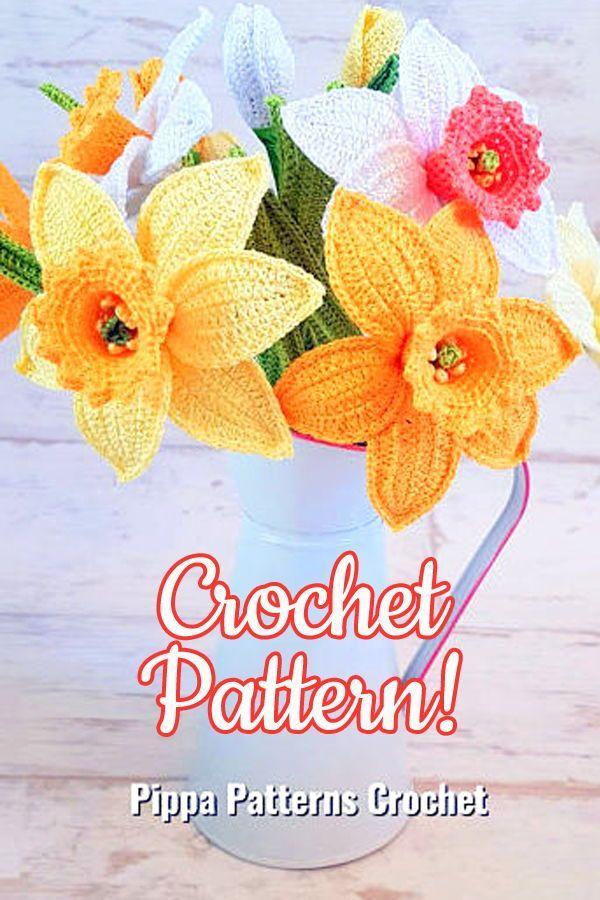 Daffodil Flower Crochet Pattern Crochet Daffodil Flower Pattern