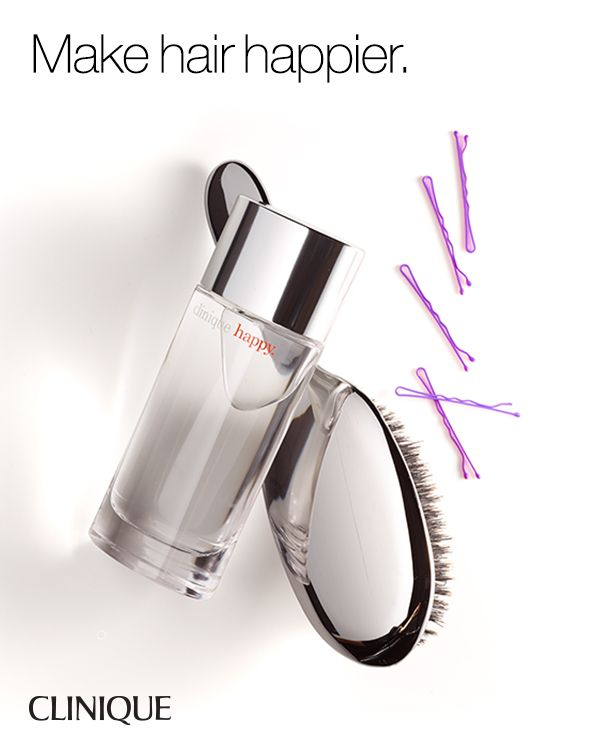 Smart Does More: Spray a hairbrush with Clinique Happy™ Perfume Spray to give hair a fresh, vibrant scent.