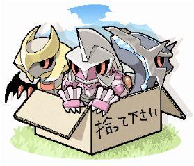 Pokémon images Baby Giratina, Dialga & Palkia! wallpaper and ...