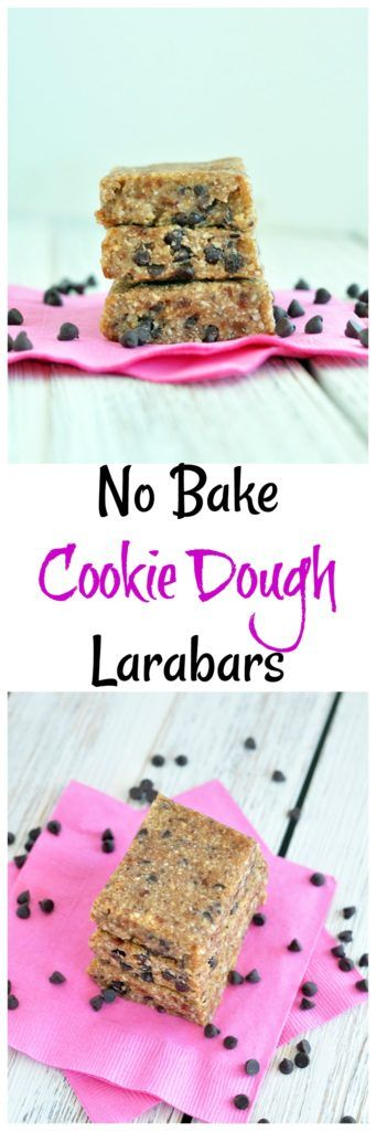 These Chocolate Chip Cookie Dough Larabars are a super cinch to make yourself. Vegan, gluten free and paleo too! They also freeze well, so make a big batch.