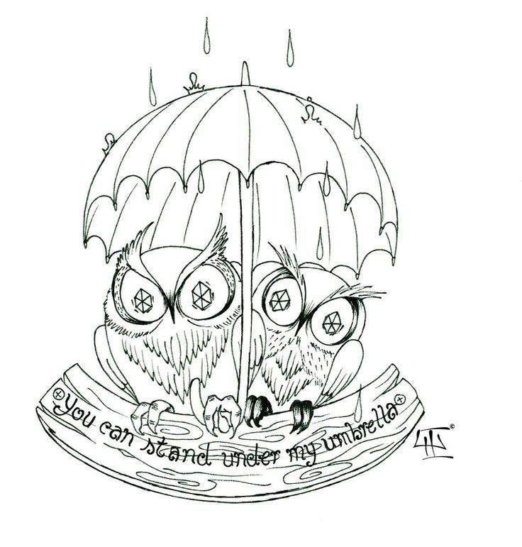 Umbrella owls by MoldySweet.deviantart.com