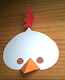 Maske für ein Huhn zu Karneval und Fasching basteln: Kostenlose Vorlage zum Ausdrucken | bastel-tipps.de