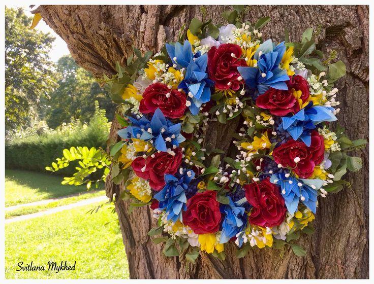 """Couronne Florale """"Roses"""". Couronne , Déco, Mariage, Fete, Création unique. : Accessoires de maison par perles-et-couronnes"""