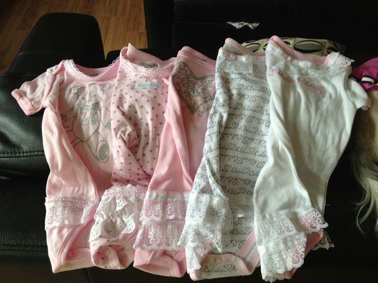 Add ruffles to onesies to dress it up