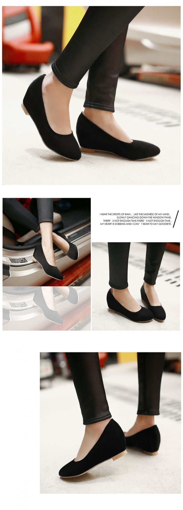 New Fashion Women Shoes Candy Color Sweet Elevator Flat Shoes Woman Mesh  Cloth Elegant Low Heeled