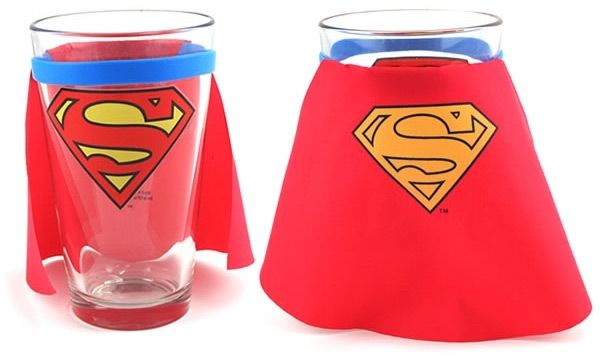 Batman and Superman Caped Pint Glasses