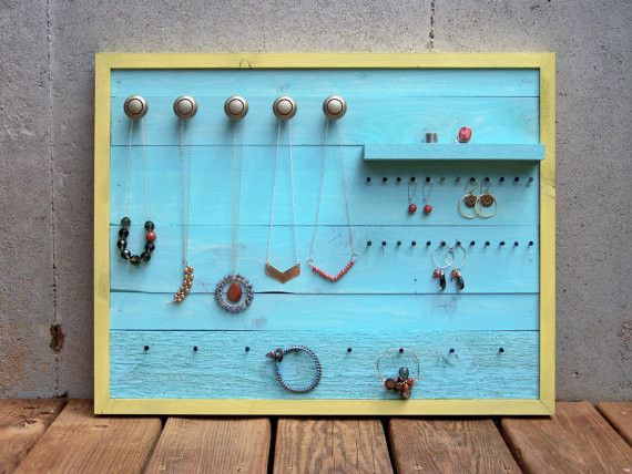 The 120 best images about pallet re purposed on pinterest for Make your own jewelry rack