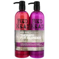 TIGI Bed Head Dumb Blonde Dumb Blonde Tween Set Shampoo and reconstructor twin set designed to get blondes back to their brilliant best! Touch up your hair with a combination of nourishing shampoo and repairing reconstructor. Treatments work in uni http://www.MightGet.com/january-2017-13/tigi-bed-head-dumb-blonde-dumb-blonde-tween-set.asp