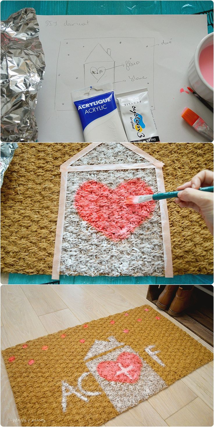 DIY paillasson personnalisé - DIY personalized doormat - Happy Chantilly