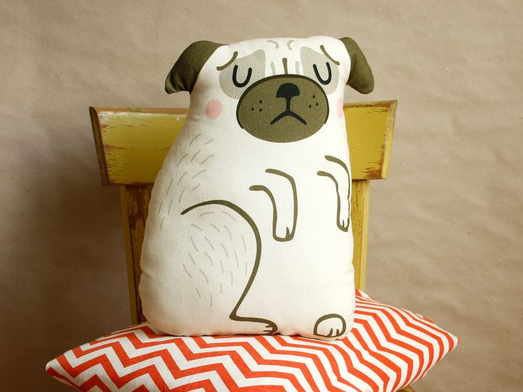 DIY Pug Cushion, sewing kit, crafting, pug pillow, home decoration, material set, sewing instruction by kaeselotti on Etsy https://www.etsy.com/listing/217420983/diy-pug-cushion-sewing-kit-crafting-pug