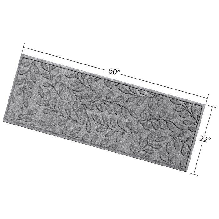 Best Beaupre Medium Gray Leaf Stair Tread Stair Treads 400 x 300