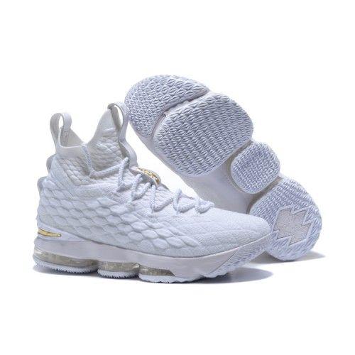 Cheap 2017 Men Nike Lebron 15 Basketball Shoes White