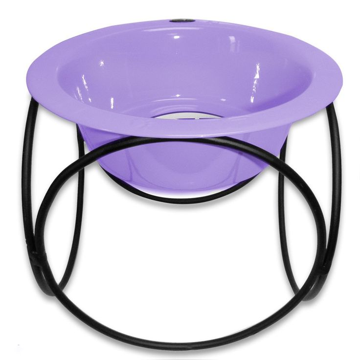 Platinum Pets Single Olympic Diner Feeder with Stainless Steel Dog Bowl Sweet Lilac Medium