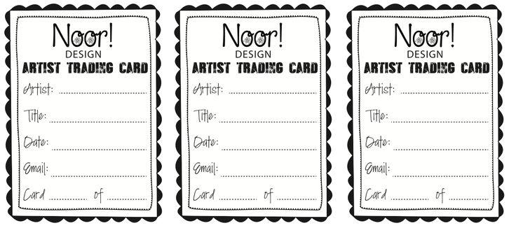 Noor! Design: Artist Trading Cards
