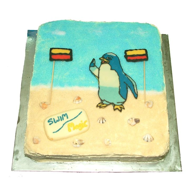 Very cute Kori cake from Freyberg Community Pool and Lido Aquatic Centre in Palmerston North.