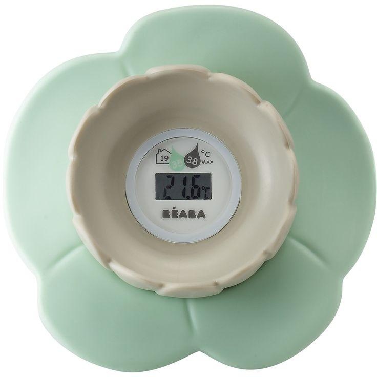 Thermomètre de bain bébé lotus bleu chez allobébé