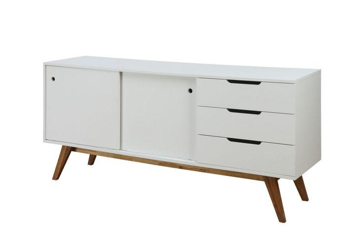 OSSI Sideboard 180 Vit/Natur i gruppen Inomhus / Förvaring / Sideboards hos Furniturebox (220-10-159843)