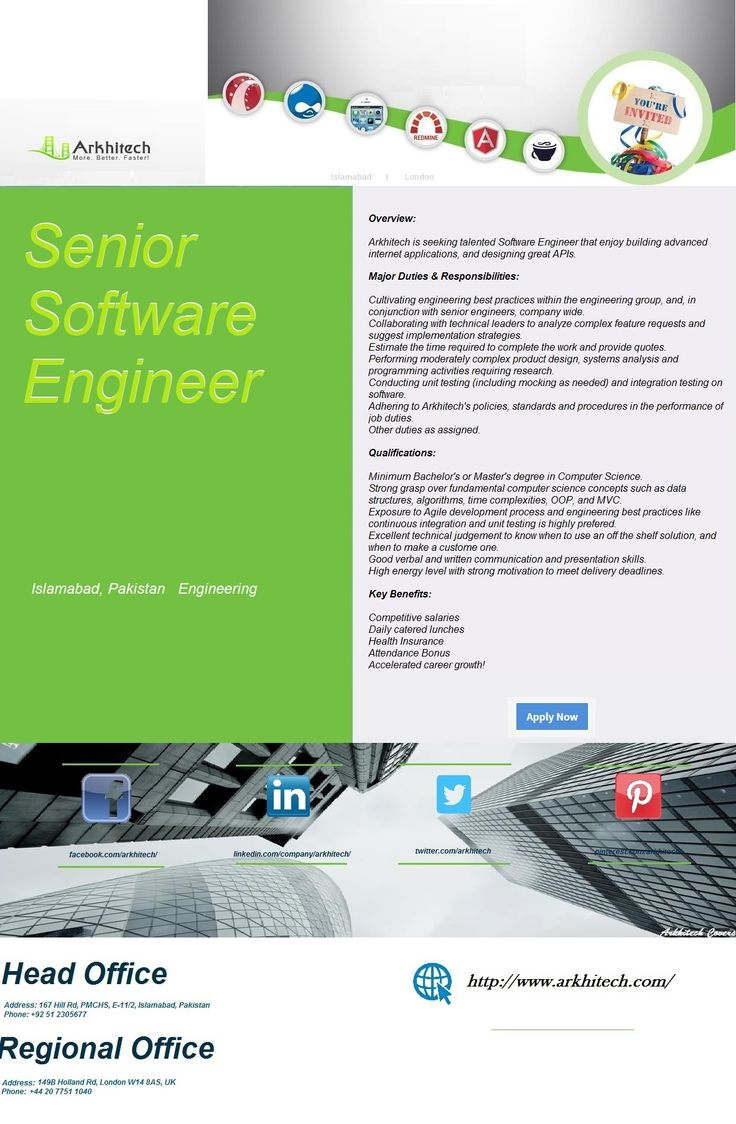 Software Architect  Arkhitech Careers    Software