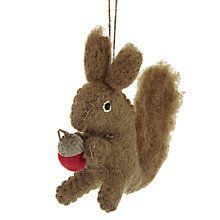 Buy Felt So Good Squirrel With Acorn Decoration Online at johnlewis.com