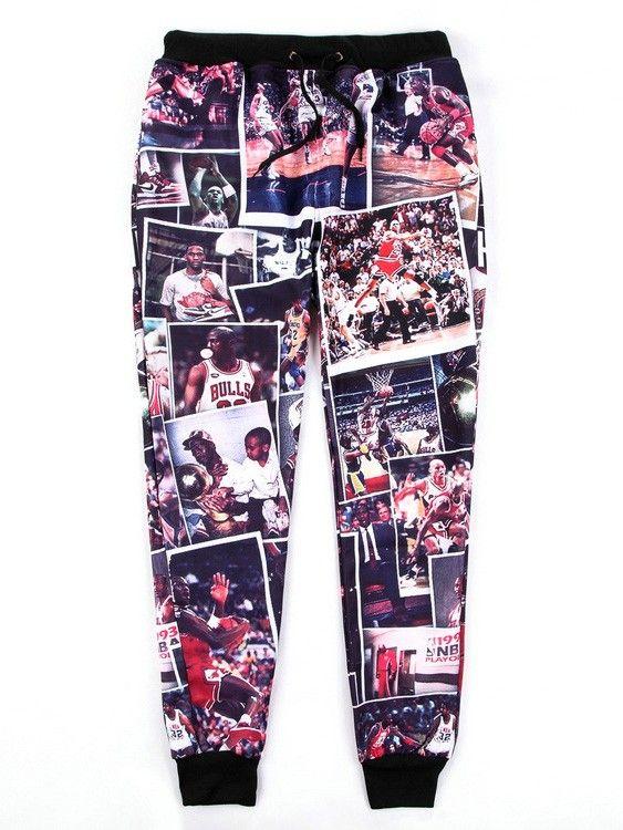 Men Black Emoji Joggers for Sale Michael Flyers Lore Printed Hip-Hop Casual Emoji Sweatpants Trousers