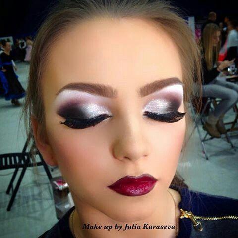 Essai maquillage pour gala de danse. I want this makeup for my next comp!  Gorgeous!