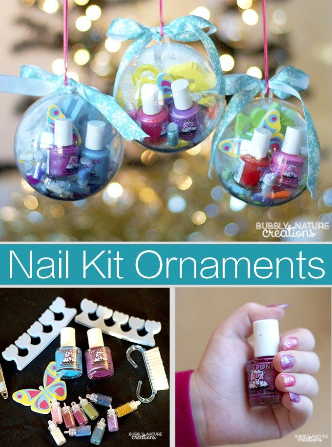Nail Kit Ornaments with Piggy Paint! - Sprinkle Some Fun
