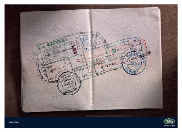 Land Rover Passport Stamps