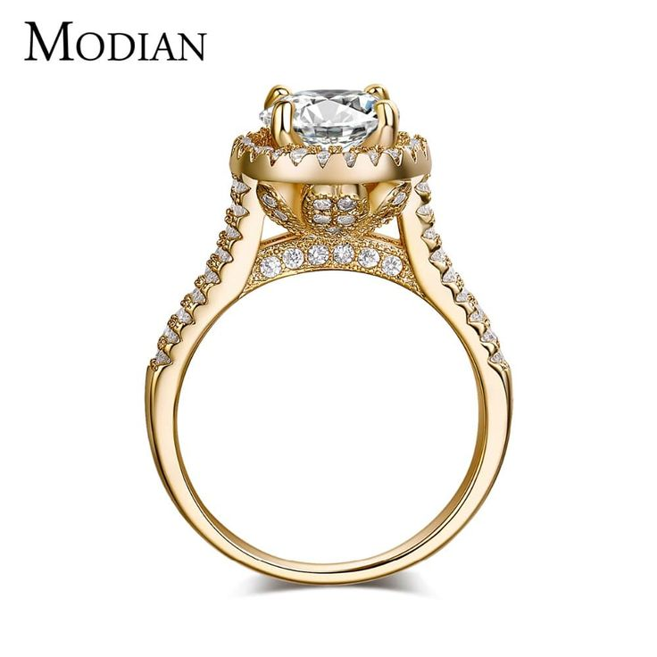 Fashion Jewelry Silver Gold Colored Zircon Engagement Ring //Price: $12.95 & FREE Shipping //     #fashion