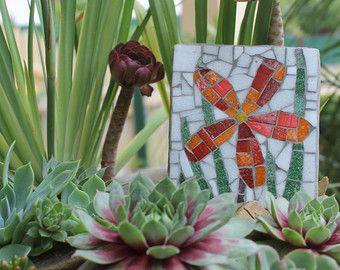Arte de la pared al aire libre jardín mosaico por MadeByNatalieK