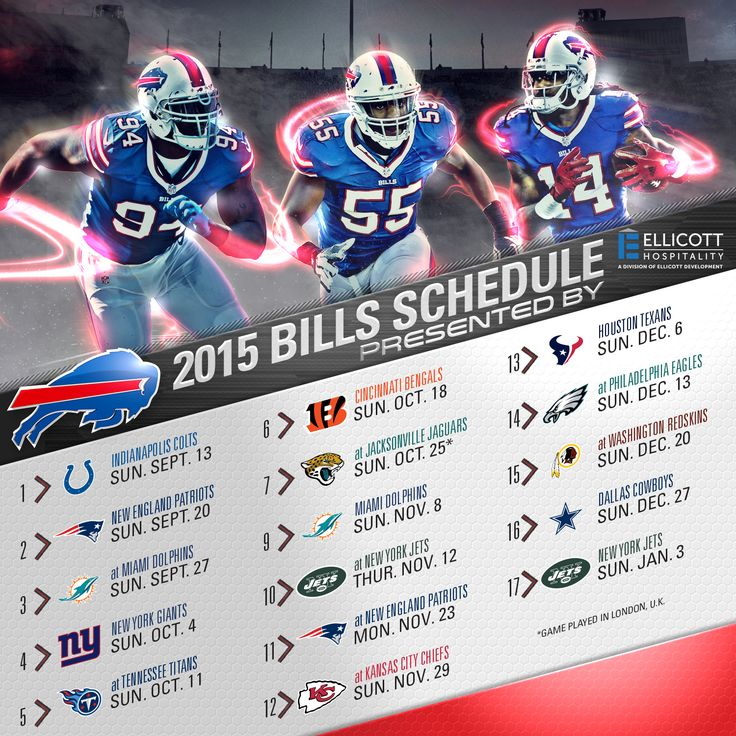 ascis Your 2015 Buffalo Bills schedule