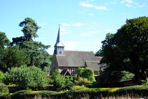 St Peter's Church on the Hascombe and Dunsfold Walk
